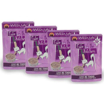 Weruva Cats in the Kitchen PouchLove Me Tender Box 4PACK 12 oz