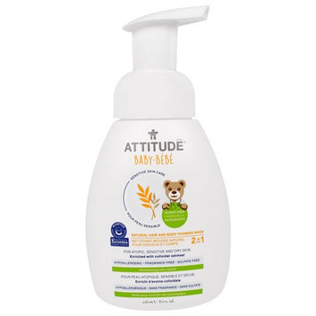 ATTITUDE® 2-in-1 Natural Hair and Body Foaming Wash Fragrance-free