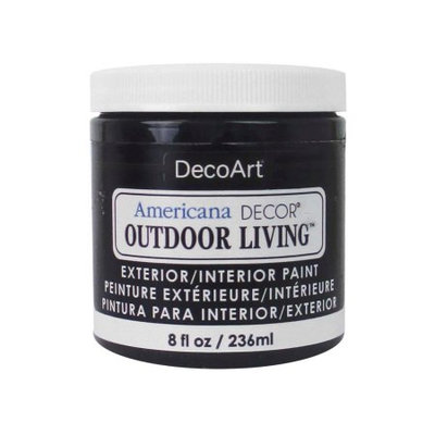 Americana Decor Outdoor Living Paint 8oz-Iron Gate