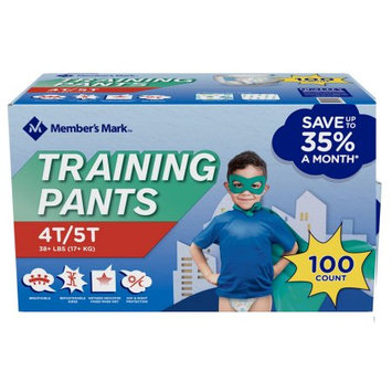 Member's Mark Training Pants for Boys 4T/5T, 38+ lbs. (100 ct.)