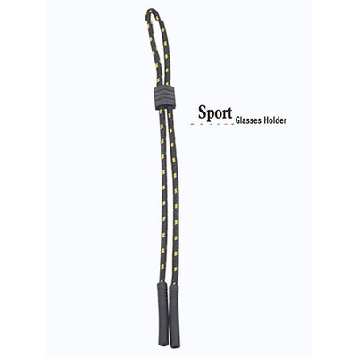 No Tail Adjustable Sports Eyewear Retainer - Black Gold - Eyeglass Holder Cord