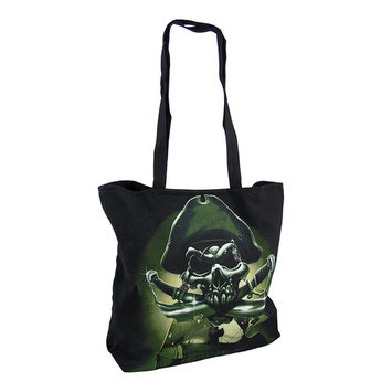 Pirate Skull and Crossed Swords Black Cotton Tote Bag