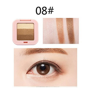OVERMAL 3 Colors Mixed Pearlescent Matte Eyeshadow Eye Shadow Make Up Textured Pallette