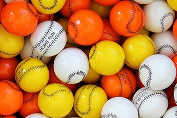 Candymachines Gumballs By The Pound - 2 Pound Bag of Baseball