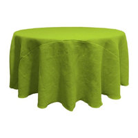 LA Linen TCBurlap120R-Lime Round Dyed Natural Burlap Tablecloth Lime - 120 in.