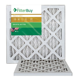 AFB Gold MERV 11 12x16x1 Pleated AC Furnace Air Filter. Filters. 100% produced in the USA. (Pack of 2)
