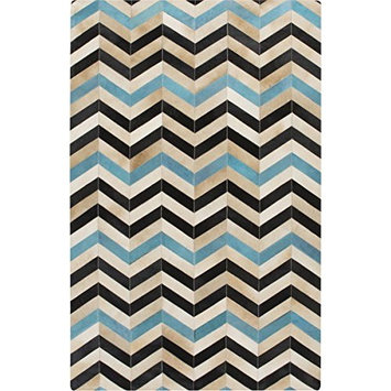 Surya Houseman HSM-4023 Hand Crafted Hair on Hide Hides and Leather Accent Rug, 2-Feet by 3-Feet