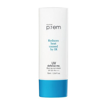 MAKEP:REM UV Defense Me Blue Ray Sun Gel 75ml / 2.53 fl. oz. with Relif Moisture Cream 20ml or Sunscreen & Whamisa Organic Essence Toner 40ml | SPF...