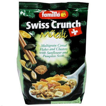 Familia Swiss Crunch Muesli, Multigrain Flakes and Clusters with Sunflower and Pumpkin Seeds, 12 OZ (Pack of 2)
