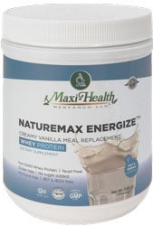 Maxi Health Kosher Naturemax Energize Whey Protein Creamy Vanilla Meal Replacement Dairy Cholov Yisroel - 3.88 OZ