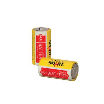 School Smart Alkaline C Batteries, Pack of 2