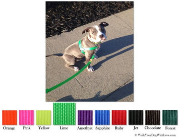 Walk Your Dog With Love No-Choke No-Pull Front-Leading Dog Harnesses, Sport Edition, Sizes From 5 to 250 lbs, Neon Green