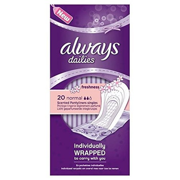 Always Fresh Scented Liners Single Wrapped 20 per pack