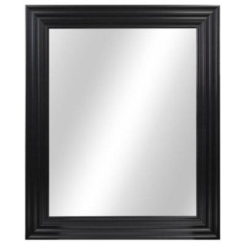 Home Decorators Collection 29 in. W x 34 in. L Framed Fog Free Wall Mirror in Black