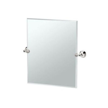 Gatco Laurel Avenue 25 in. x 24 in. Frameless Single Small Rectangle Mirror in Polished Nickel
