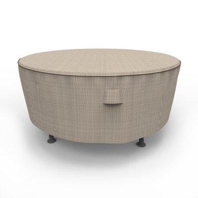 Budge 60 Dia. x 28 Drop in. English Garden Round Patio Table Cover - Tan Tweed
