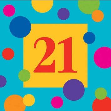 Birthday Stripes Luncheon Napkin, 3 Ply, 21St (12pks Case)