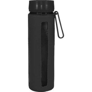 Gourmet Home Products 18 Oz Glass Sports Bottle with Silicone Body and Carry Strap