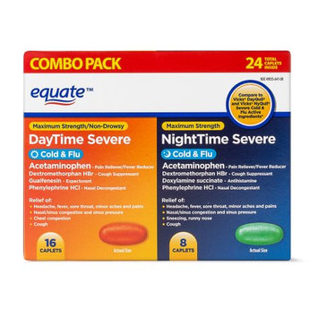 Supplier Generic Equate Day/Night Cold and Flu Caplets, 24 Count