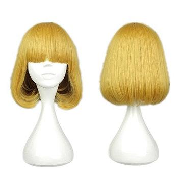 COSPLAZA Short Yellow Blonde Girl Anime Cosplay Wigs Halloween Fashion Hair