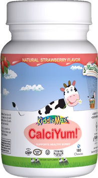 Maxi Health Chewable Calcium (Calci-Yum) Natural Strawberry Flavor - 180 Chewies