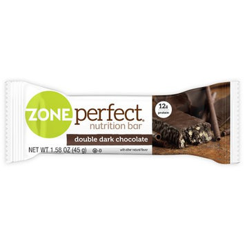 Abbott Nutrition ZonePerfect Double Dark Chocolate Nutrition Bars, 1.58 oz, 10 count, (Pack of 4)