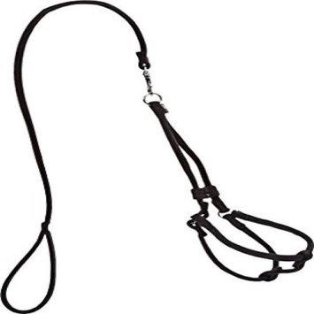 Dogline M8012-1 48 L x 0.25 W in. Small Comfort Microfiber Round Step-In Harness Black