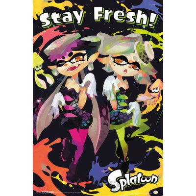 Splatoon Stay Fresh Video Gaming Poster 12x18