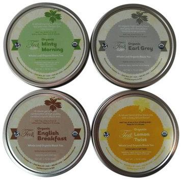 Heavenly Tea Leaves Organic Black Tea Sampler, Whole Leaf Gift Box, 4 Count