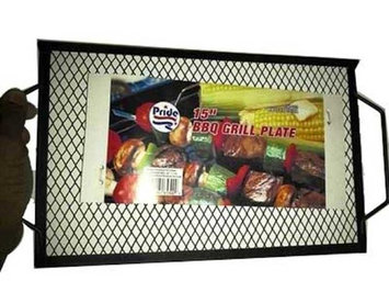 Supergooddeals.com 15' inch Barbecue BBQ Grill Plate - Grill Burgers and Hot Dogs Easily on Your Camp Fire