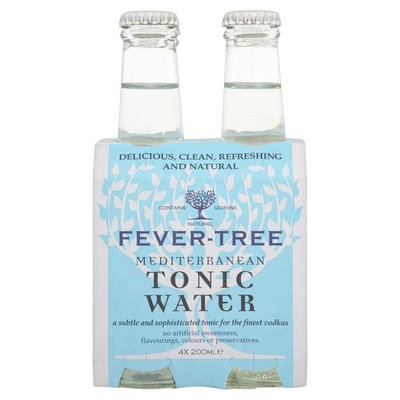Fever Tree Mediterranean Tonic Water (4x200ml) - Pack of 2
