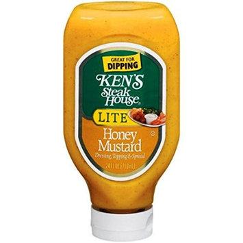 Ken's Steak House LITE Honey Mustard - 24 oz Squeezable Bottle - (Pack of 4)