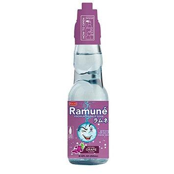 Ramune Japanese Style Marble Soda (Grape, 6 Bottles)
