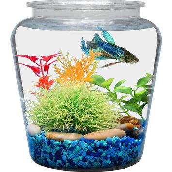 Hawkeye 1-Gallon Vase Fish Bowl, Break-Resistant Plastic 7.25