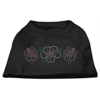Mirage Pet Products 5279 SMBK Tropical Flower Rhinestone Shirts Black S 10