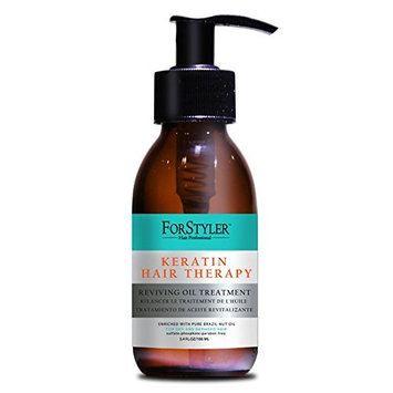 Reviving Oil Treatment for dry and damaged hair- Keratin Hair Therapy- 3.4oz/100ml