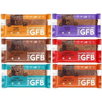The GFB Gluten Free Snack Bars, Mixed Variety Flavors Protein Sampler Pack, Vegan, Gluten Free, NON-GMO (6 Count)