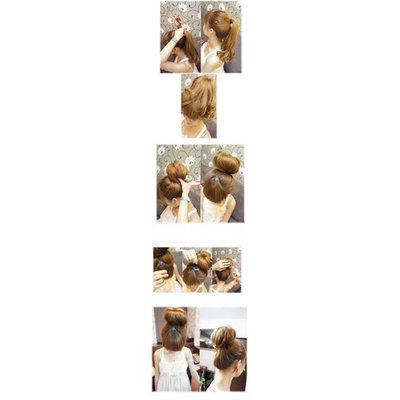 Anleolife Bun Maker/Hair Donut/Hair Bun Donut Hair Piece (deep brown)