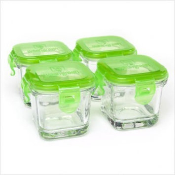 Wean Green Glass Baby Food Containers (Set of 4) (Pea (Green))