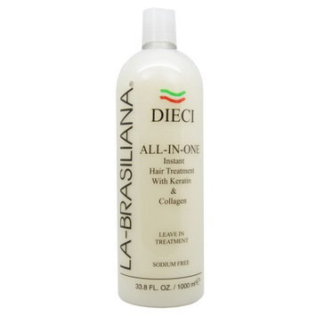 La Brasiliana La-Brasiliana Dieci All-In-One Instant Hair Treatment 1000ml/33.8oz