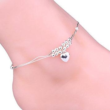 DZT1968 1pcWomen Girls Handmade bead Anklet Foot Double Chain Crystal Bracelet
