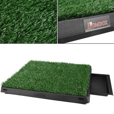 Homdox Puppy Potty Trainer Park Indoor Potty Grass Mat Training Pad For Pets Dog