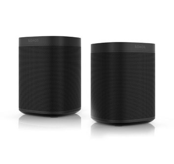 Sonos One (Black) Voice Controlled Smart Speaker Pair Kit