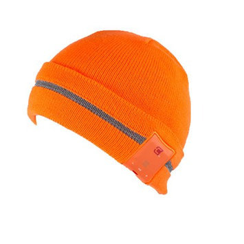 Caseco Reflective Bluetooth Beanie for iPhone, Samsung Galaxy and more - Orange
