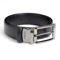 Royce Leather Airport Security Checkpoint Friendly Belt in Black (36 in. L x 2 in. W)