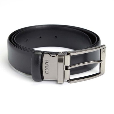 Royce Leather Airport Security Checkpoint Friendly Belt in Black (38 in. L x 2 in. W)