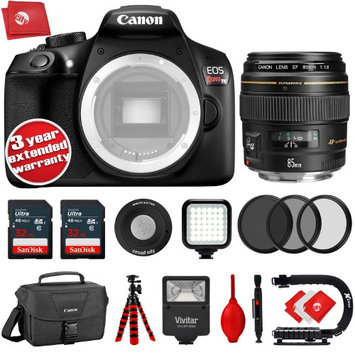 Circuit City Canon T6 18MP DSLR Camera w/ Canon EF 85mm f/1.8 USM Portrait Lens - 64GB - 20PC Kit + 3YR Warranty