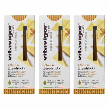Vitavigor Grissini Breadsticks 3-pack (Cheese Flavor) - Imported Italian
