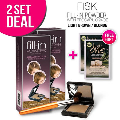 2-PACK Cover Your Gray Fill-in Powder with Procapil, (Light Brown/Blonde) with Free Sulfate-Free Shampoo