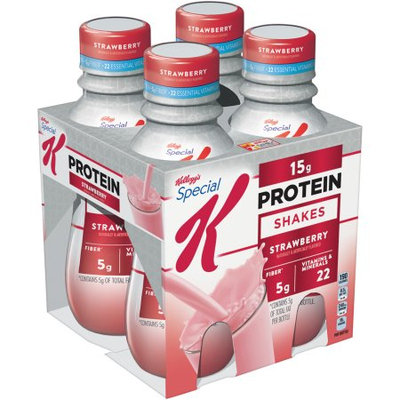 Kellogg Company Kellogg's Special K Protein Strawberry Shakes, 10 fl oz, 4 count, (Pack of 3)